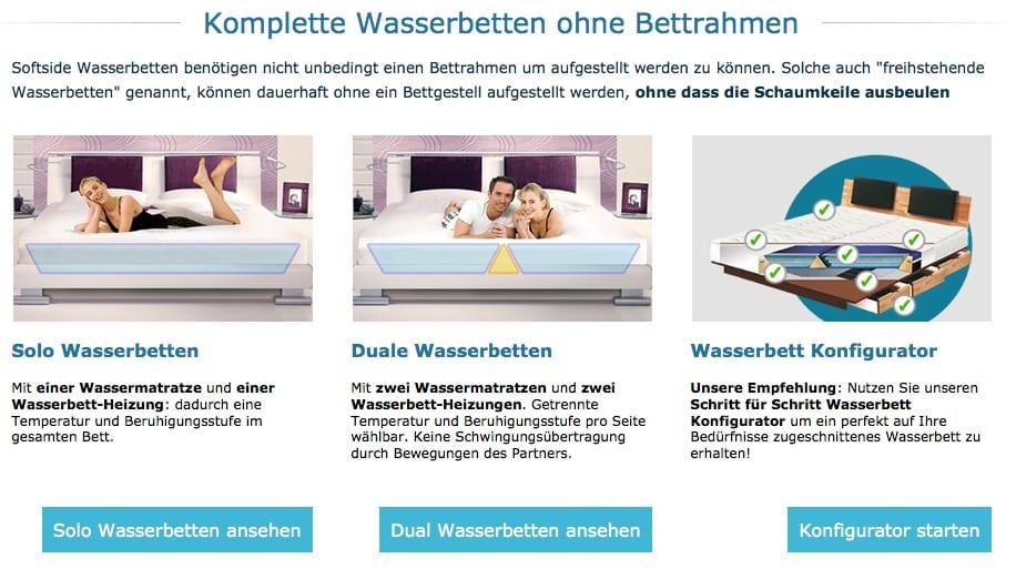 umgestaltung der wasserbett kategorie aqua comfort. Black Bedroom Furniture Sets. Home Design Ideas