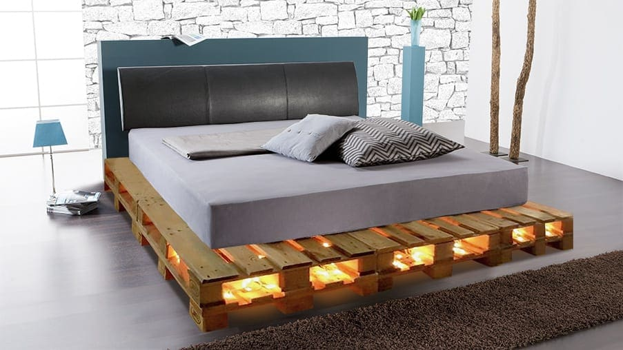 das diy palettenpodest f r ihr wasserbett. Black Bedroom Furniture Sets. Home Design Ideas