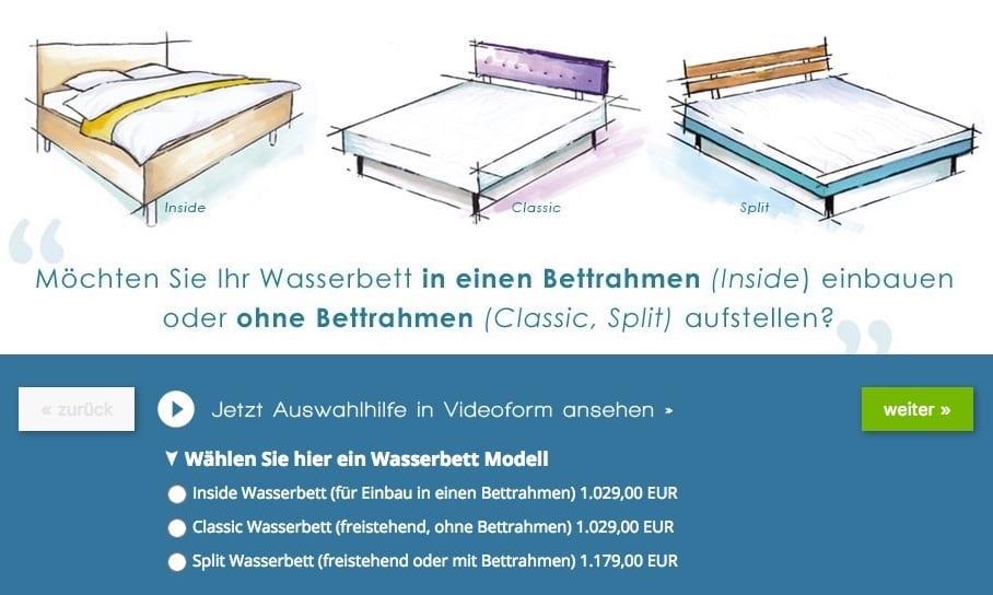Wasserbett 90x200 cm online kaufen bei Aqua Comfort